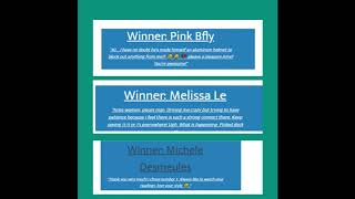 Tarot Cards Winners