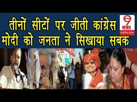 Rajasthan उपचुनावों में Congress ने जीत हासिल की, PM Modi को लगा झटका  Rajasthan By-Election Result