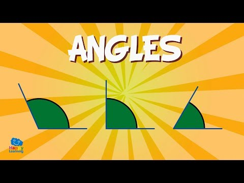 Angles: measuring angles and their names! | Educational Videos for Kids