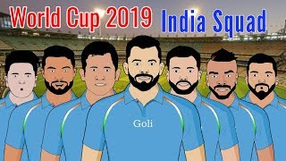 World Cup 2019 India Team Squad