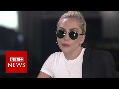 """Lady Gaga on Donald Trump : """"I have nothing to say of him"""" BBC News"""