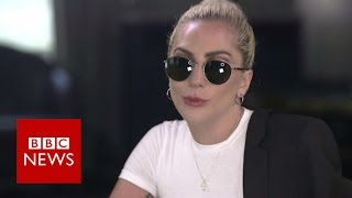 "Lady Gaga on Donald Trump : ""I have nothing to say of him"" BBC News"