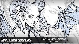 How To Draw: DEMONS - Demoness