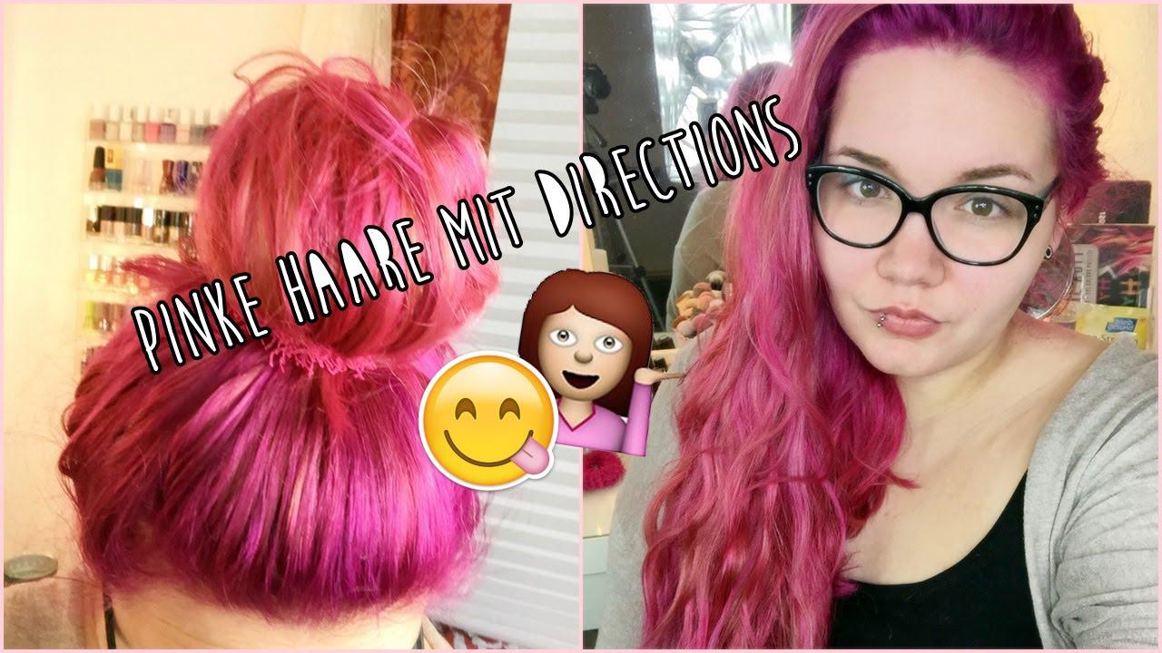 Haare rosa farben directions