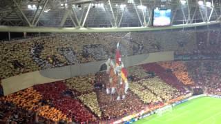 Galatasaray Braga Muhteşem koreografi+şampiyonlar ligi muziği (HD)