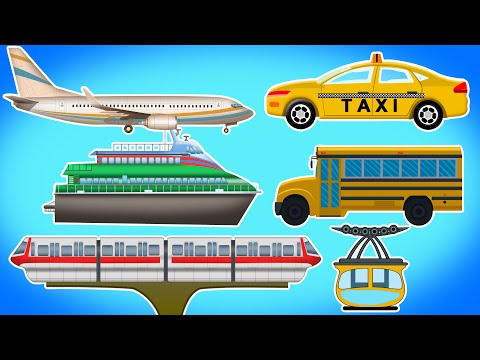 Public transport | vehicles for Children's | Videos for Kids