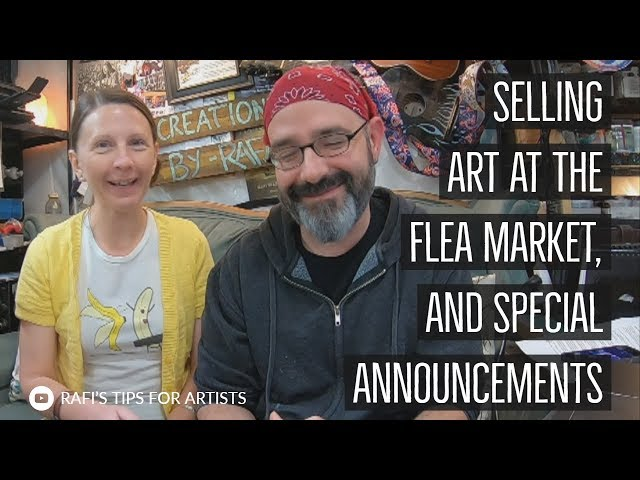 Selling Art At The Flea Market, Swag Winner, And Special Announcements