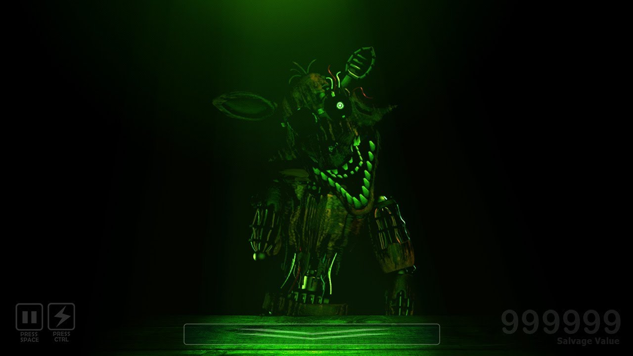 FNAF 6 - Foxy and the New Springtrap