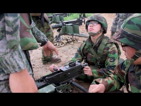 Republic Of Korea & US Marines Rehearse Squad Tactics – M2 Machine Gun Live Fire