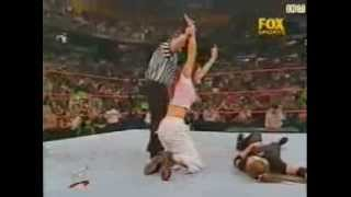 The Hardy Boyz and Lita vs Stone Cold, Triple H and Stephanie McMahon. (Lita get