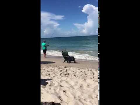 Shore fishing on vero beach florida youtube for Vero beach fishing report