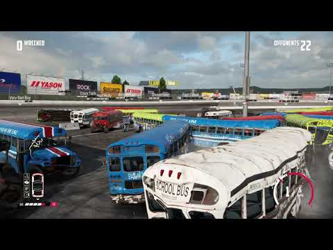 Wreckfest School Bus Big Valley Speedway Demolition Derby