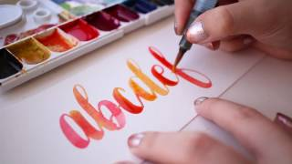 Video How to Blend Colors Beautifully with Watercolor Lettering download MP3, 3GP, MP4, WEBM, AVI, FLV Agustus 2018