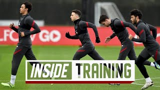 Inside Training: Jota trains with the team, and Van Dijk out on the grass