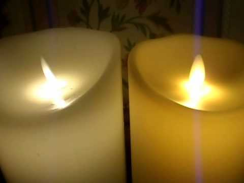 A simple side by side Luminara and Premier LED candle comparison.