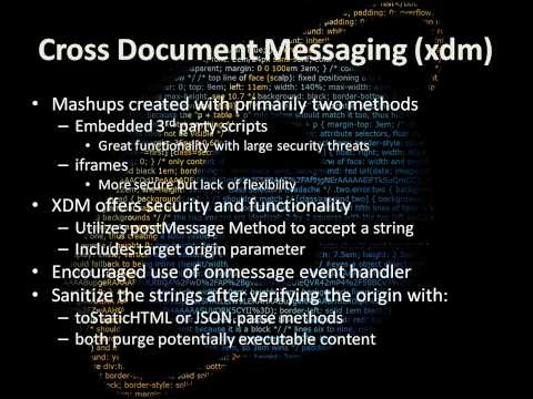 How Do I: Increased Security Using Cross Document Messaging (XDM)