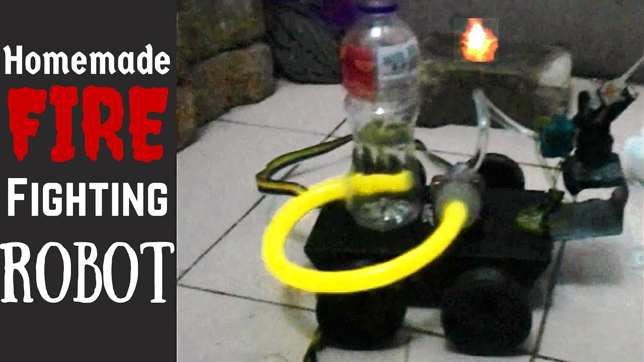 Homemade Fire Fighting Robot - YouTube