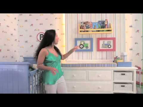 Decora o de quarto infantil com papel de parede youtube for Papel de pared infantil