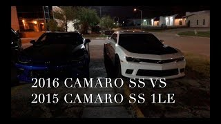 2016 Camaro SS vs 2015 Camaro SS 1LE! 6th Gen vs 5th Gen Camaros Battle