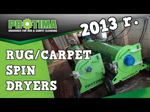 RUG CARPET SPIN DRYERS (rug Centrifuge) Rug Cleaning Equipment Made In Poland