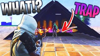 how does he NOT see the TRAP... 😱 (Scammer Gets Scammed) In Fortnite Save The World