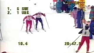 Лыжные гонки. Олимпийские игры 1984. Сараево. Эстафета 4х10. Мужчины. Документальная съемка