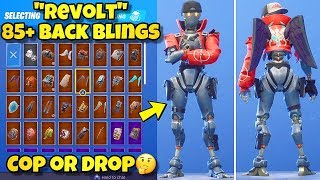 "NEW ""REVOLT"" SKIN Showcased With 85+ BACK BLINGS! Fortnite Battle Royale (BEST REVOLT SKIN COMBOS)"