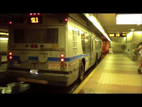 MBTA: Boston T: Silver Line (BRT) Buses at South Station