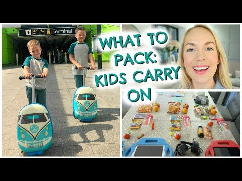 WHAT TO PACK:  KIDS CARRY ON   |  SHORT HAUL EDITION