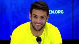 "Matteo berrettini: ""i dream of these kind matches"" | us open 2019 quarterfinal press conference"