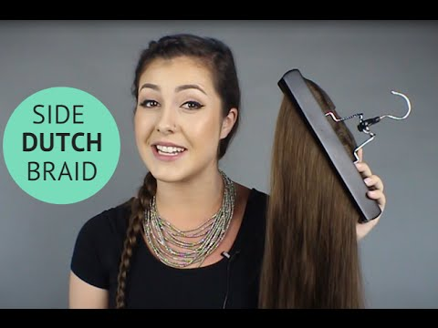 How To Dutch Braid with Clip in Extensions  HEM  YouTube
