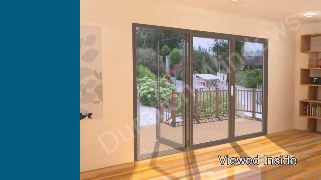 panel bifold door open all one way youtube
