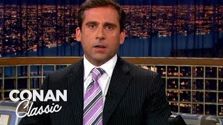 "Steve Carell's Impression Of A Joyless Laughing Guy - ""Late Night With Conan O'Brien"""
