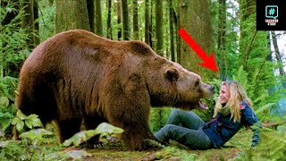 The bear pleaded to her for help then this happened