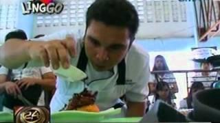 24oras: Bicolano specialties na   sinangkapan ng sili, bida sa   Cagsawa festival