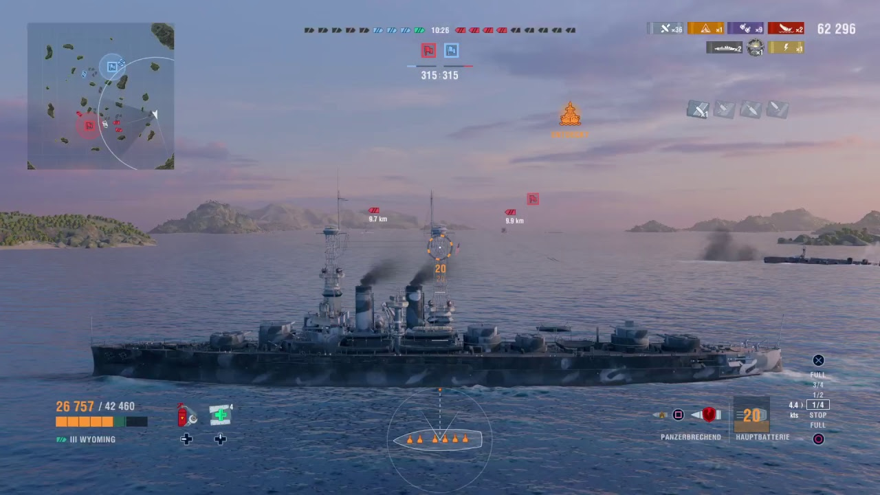 PS4-Live-World of Warships: Legends - closed beta view
