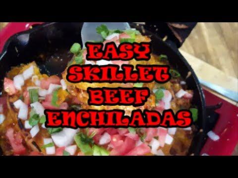 EASY SKILLET BEEF ENCHILADAS