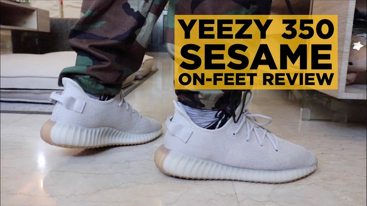 cdfa386f9 BEST YEEZY DROP OF 2018  YEEZY 350 BOOST SESAME ON-FEET REVIEW ...