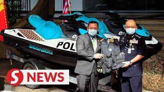 Selangor cops receive electric bikes and jet skis for border patrol efforts