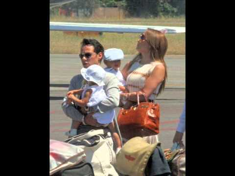Jennifer Lopez & Marc Anthony and the kids