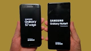 Samsung Galaxy Note 9 vs S7 edge Speed Test, Cameras & Speakers!