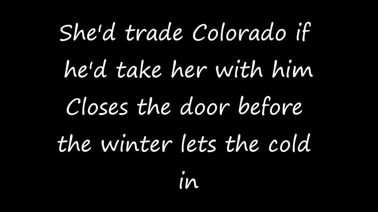 Zac Brown Band Colder Weather Lyrics On Screen Chords Chordify