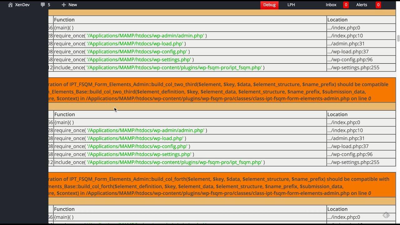 Display Debug Information In WordPress