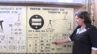 Измерение горизонтального угла