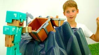 Видео обзор Майнкрафт - Копилка для Стива! - Игры для детей.