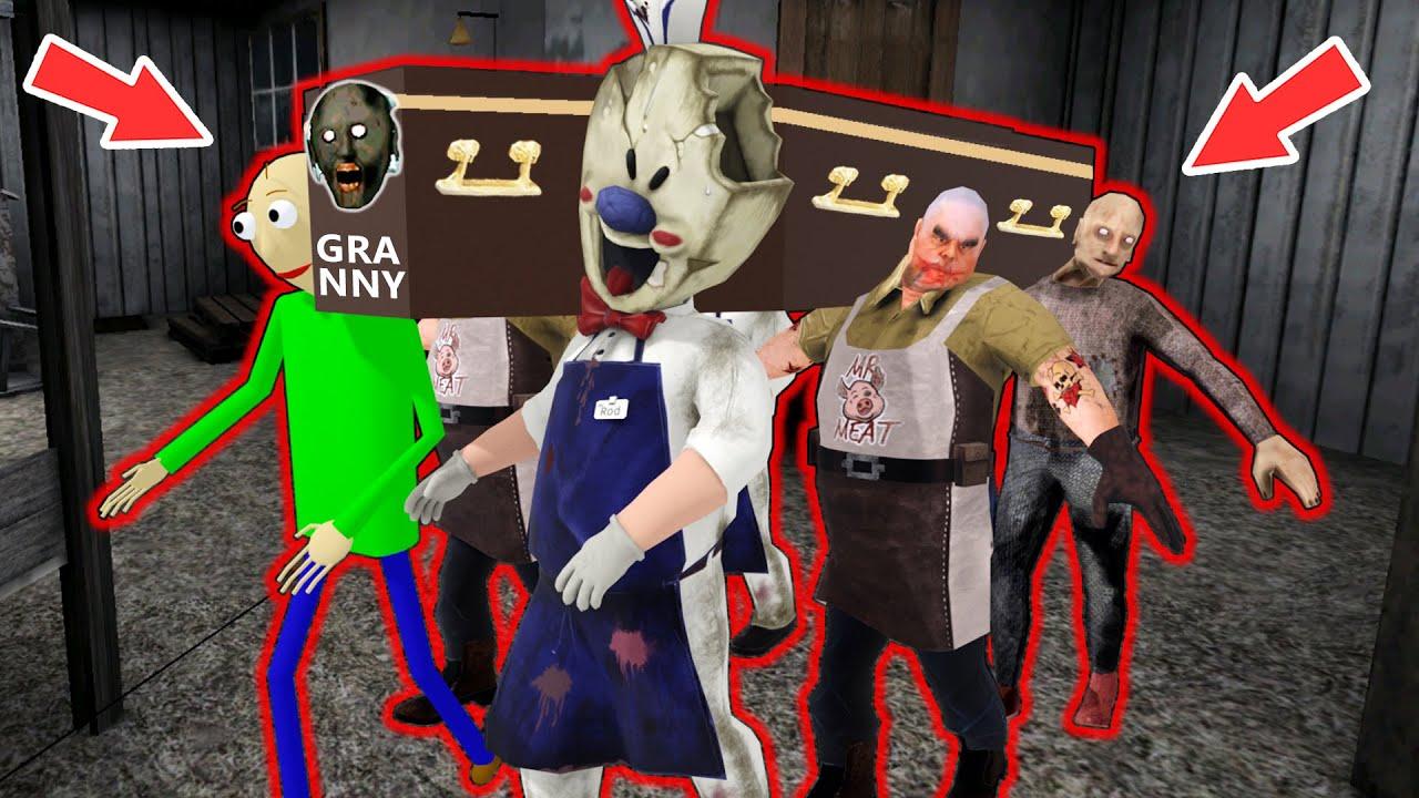 Granny, Ice Scream, Mr Meat, Grandpa - СВАДЬБА - funny horror animation parody (part 16)