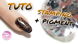 Poser un pigment sur du stamping | TUTO