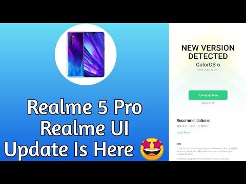 Realme 5 Pro Realme UI Update Is Here 🤩 | Realme UI Realme 5 Pro | Realme 5 Pro C.01 Update ~ RJ 😈
