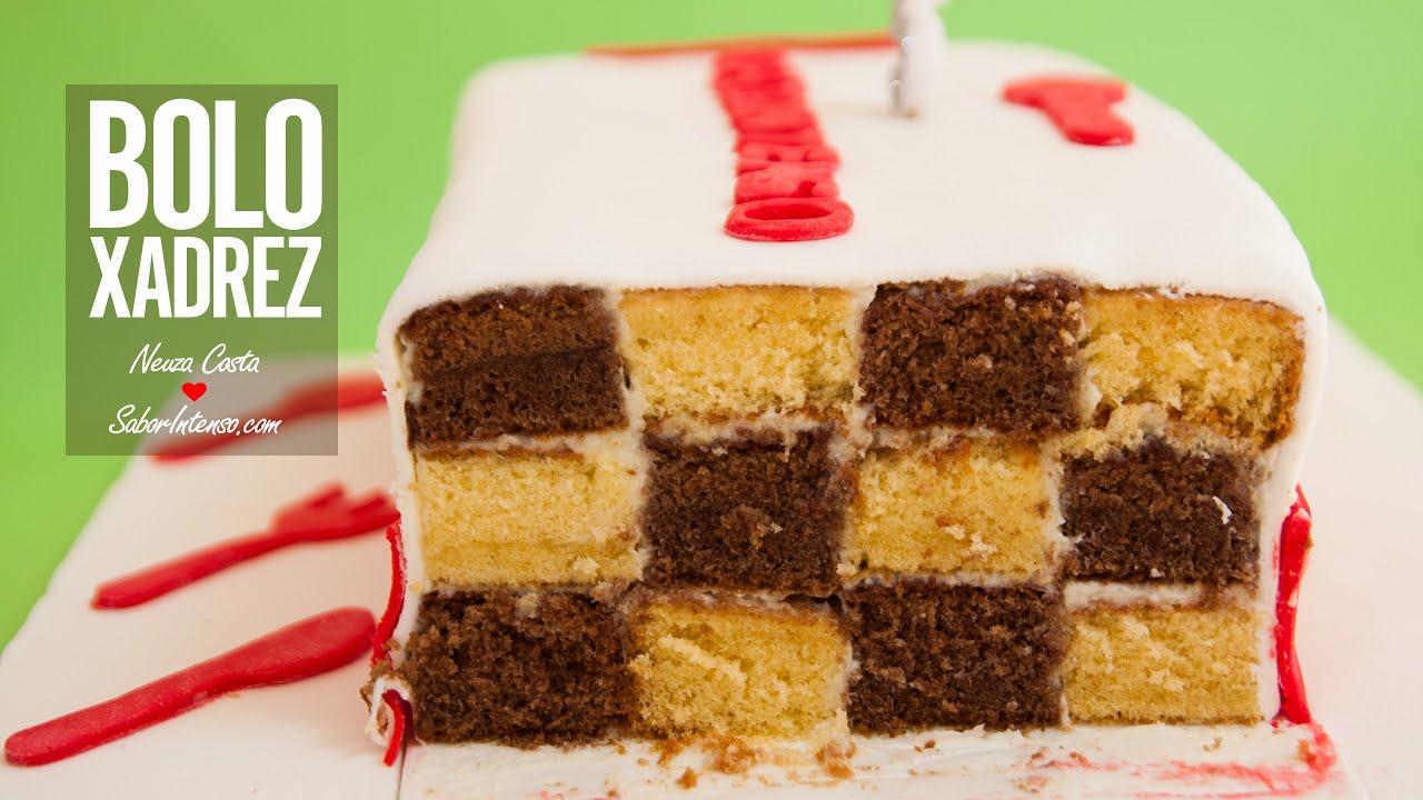 Bolo De Aniversário Com Frases: Receita De Bolo De Aniversário SaborIntenso V (Bolo Xadrez