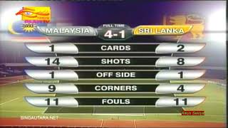 FIRST DEBUT SUMAREH UNTUK MALAYSIA | SRI LANKA 1-4 MALAYSIA | FULL HIGHLIGHT 2018